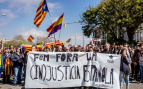 Concentración de los CDR en Barcelona contra el Rey y los jueces (Foto: Twitter)