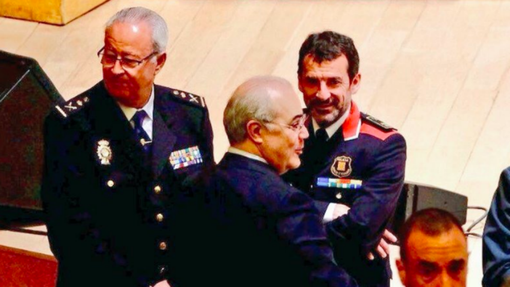 El Jefe de los Mossos d´Esquadra Ferran Lopez con el juez Pablo Llarena