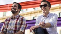Alberto Garzón (IU) e Iñigo Errejón (Podemos) durante la última campaña electoral en Málaga.