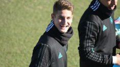 Miguel Baeza durante un entrenamiento.