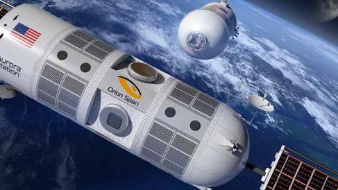 Aspecto de los módulos del hotel espacial