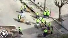 Más de 50 operarios trabajando en una obra pública