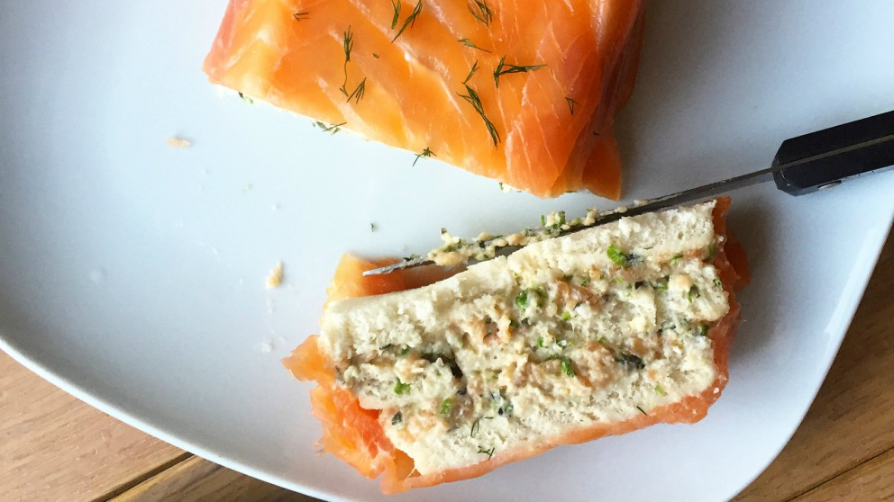Receta de Pastel de salmón ahumado fácil de preparar
