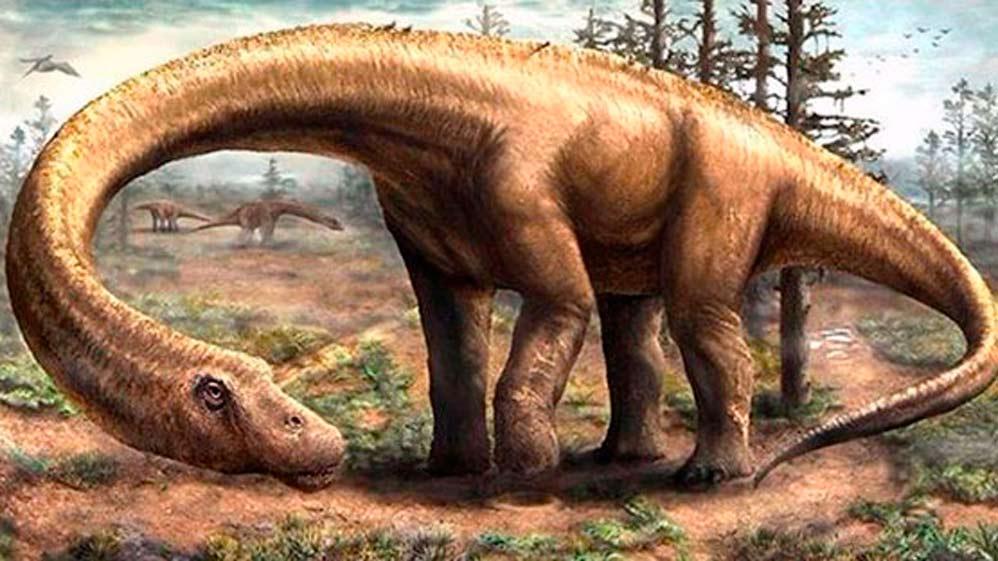 Un dinosaurio gigantesco