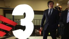 Puigdemont visitando TV3. (Foto. Flickr)