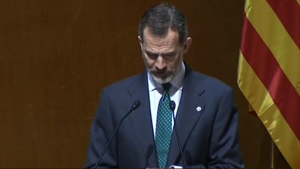 El Rey Felipe VI, en la entrega de despachos a nuevos jueces en Barcelona.