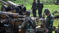 Miembros del ejército de Siria en la región central de Homs. Foto: AFP