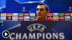 Valverde en rueda de prensa. (AFP)