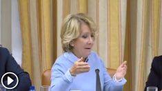 Esperanza Aguirre contesta al Gabriel Rufián