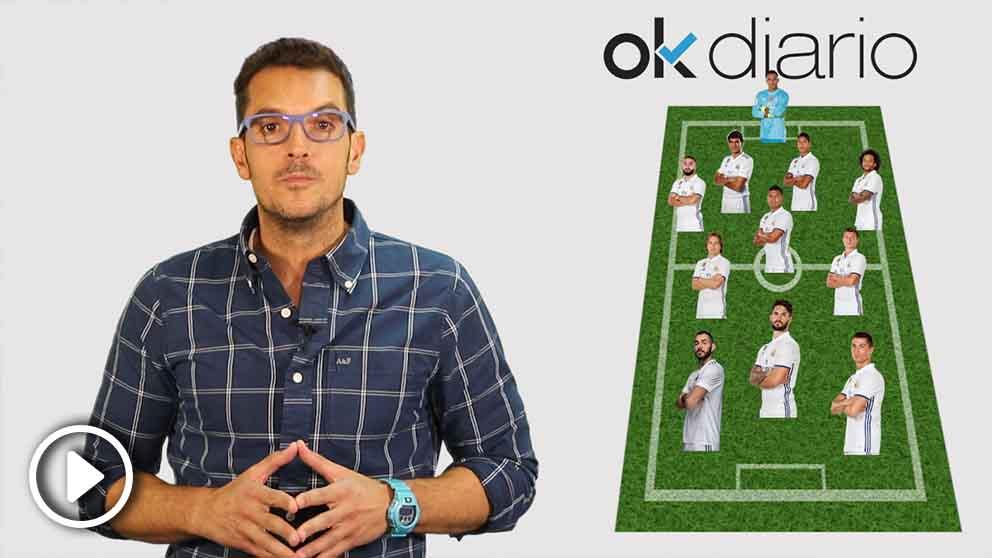 Esta es la alineación del Real Madrid que jugará ante la Juve. (vídeo: Juama Yela)