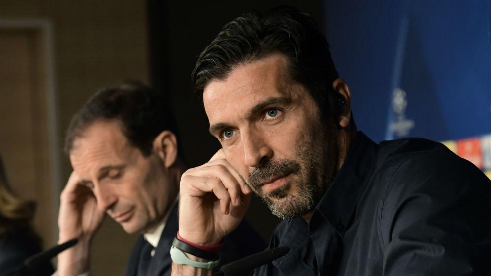 Gianluigi Buffon, durante la rueda de prensa previa al Real Madrid – Juventus. (AFP)