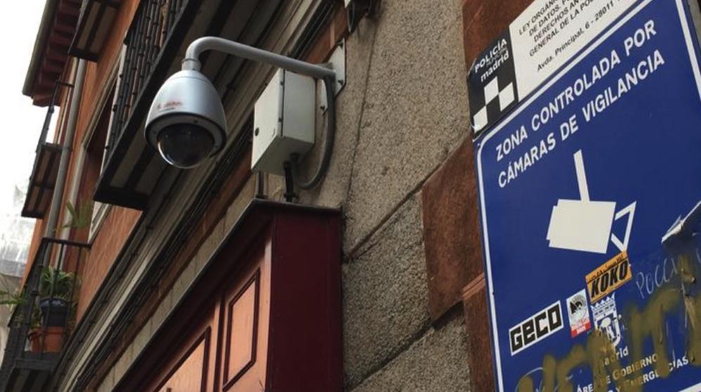 Cámara de seguridad en Madrid. (Foto. OKDIARIO)