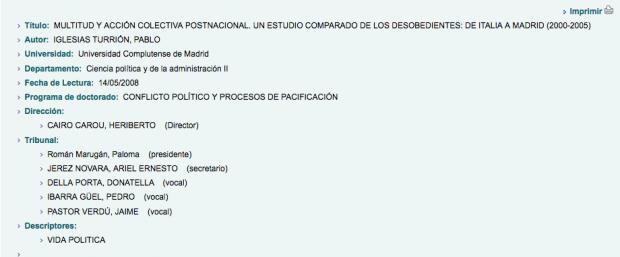 El tribunal amigo de Pablo Iglesias: dos de los 5 miembros que avalaron su tesis acabaron en Podemos