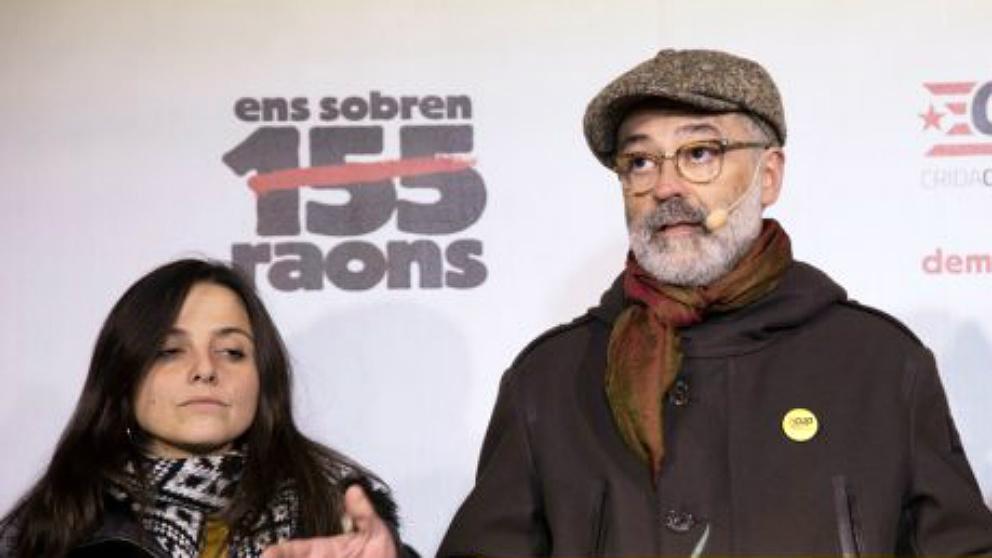 Los diputados de la CUP Carles Riera y Maria Sirvent.