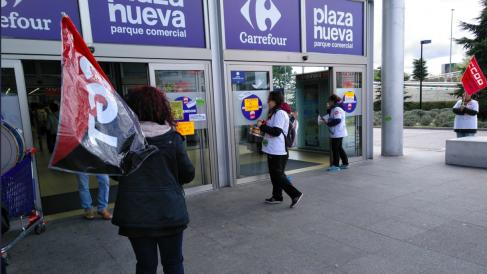 Huelga de Carrefour en Leganés (Foto:CGT)