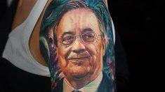 Tatuaje con la cara de Florentino Pérez.