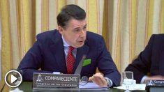 El expresidente de la Comunidad de Madrid, Ignacio González, en el Congreso de los Diputados.