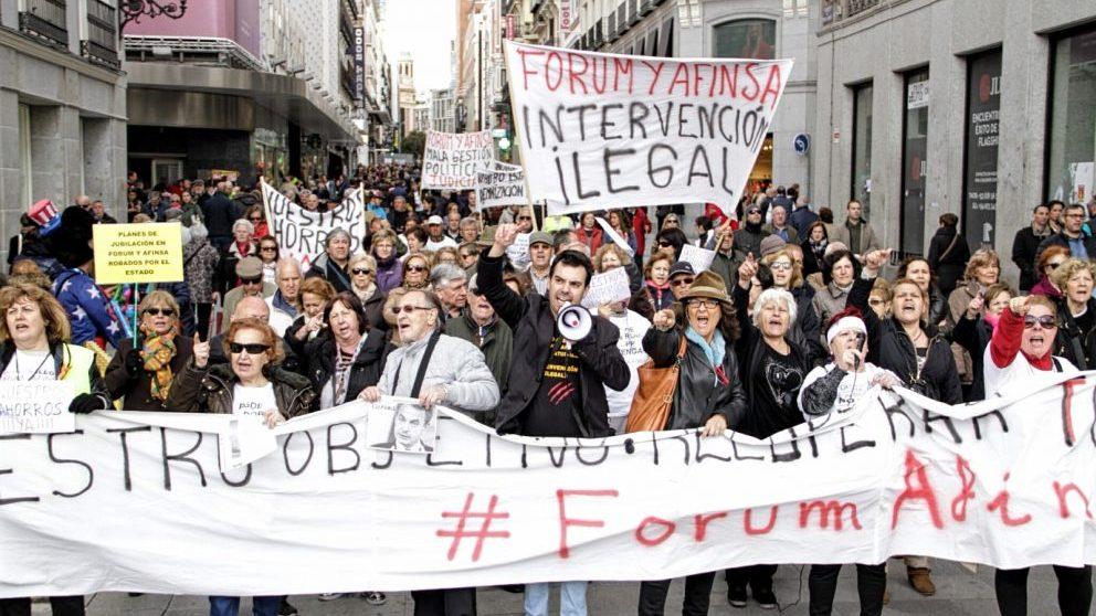 Los afectados de Fórum-Afinsa en una manifestación.