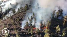 Imágenes del 112 Emergencias Tenerife sobrevolando el incendio de Granadilla.