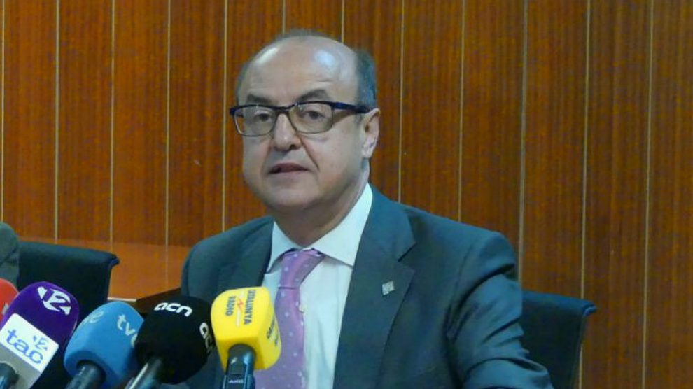Jesús María Barrientos, presidente del Tribunal Superior de Justicia de Cataluña.