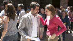 Jordi Sànchez y Carme Forcadell. (Foto: ANC)