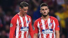 Fernando Torres y Koke, durante un partido con el Atlético de Madrid. (Getty)