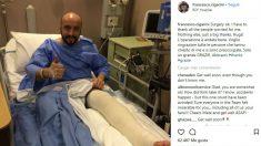 Francesco Cigarini, el mecánico de Ferrari atropellado por Kimi Raikkonen, se recupera ya de su fractura de tibia y peroné tras ser operado.