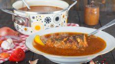 Receta de sopa de truchas tradicional paso a paso