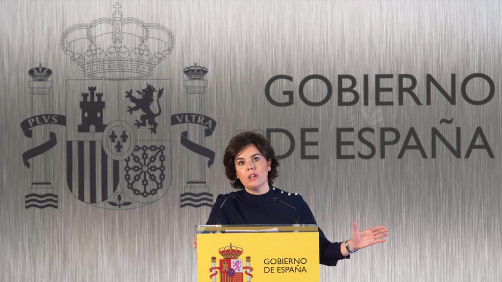 Soraya Sáenz de Santamaría, vicepresidenta del Gobierno. (Foto: EFE)