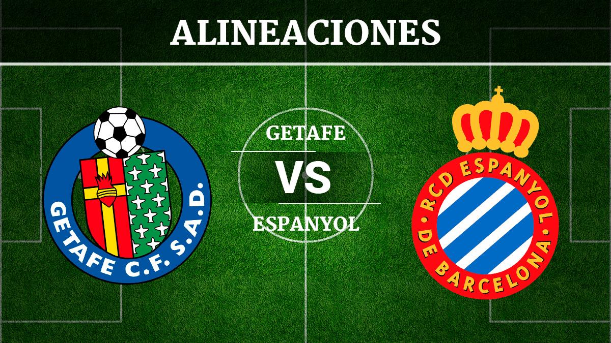 Consulta las posibles alineaciones del Getafe vs Espanyol.