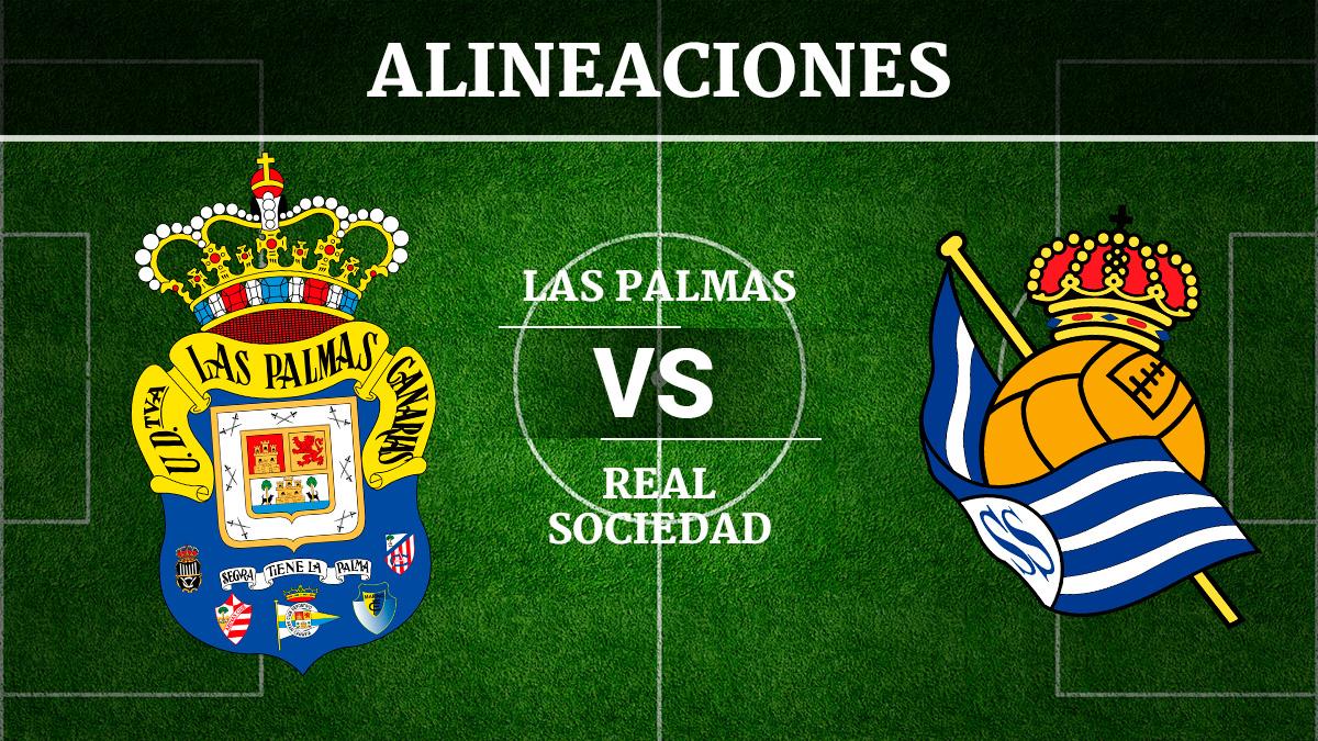 Consulta las posibles alineaciones del Las Palmas vs Real Sociedad.