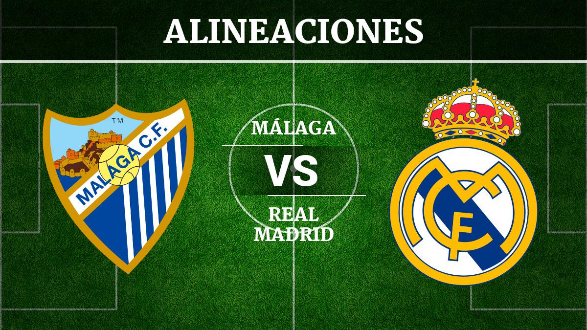 Consulta las posibles alineaciones del Málaga vs Real Madrid.