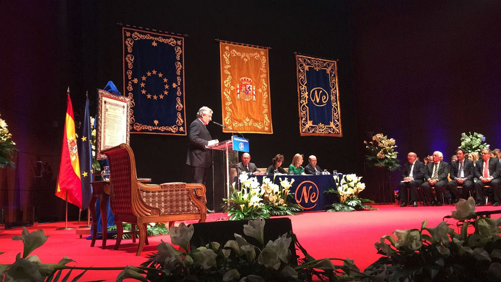 Antonio Tajani, en su discurso al recibir el Premio Nueva Economía al desarrollo económico y la cohesión social.
