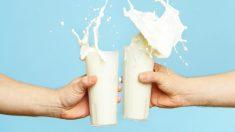 vasos de leche ricos en calcio