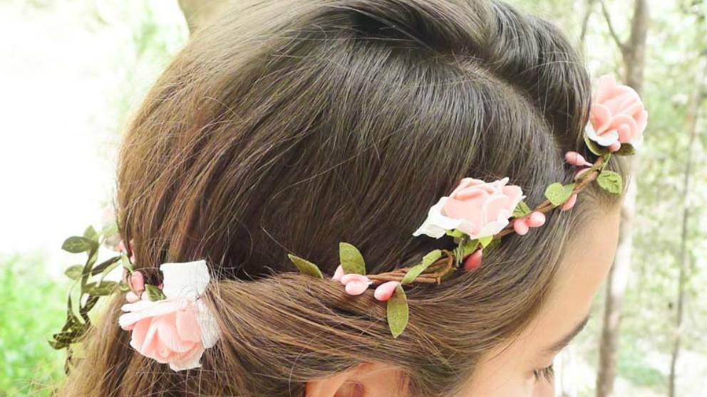Adornos para el pelo de primera comuni n - Como hacer adornos para el pelo ...