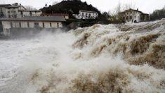 El fuerte caudal de los ríos y la previsión de fuertes lluvias en Navarra hace temer graves inundaciones