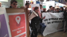 Protesta en ExppoJove. (Fuente: RRSS).