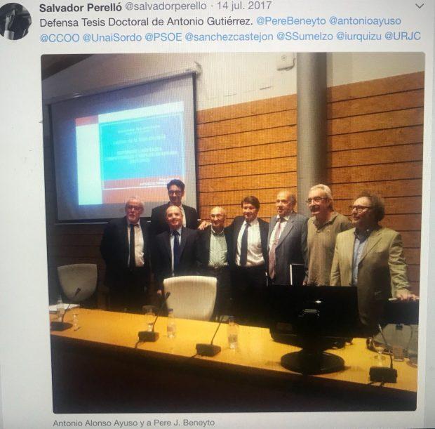 El filtrador del 'caso Cifuentes' avisó a Sánchez del cum laude de Álvarez Conde al socialista Gutiérrez