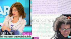 Ana Julia Quezada dirige una carta a Ana Rosa Quintana desde la cárcel.
