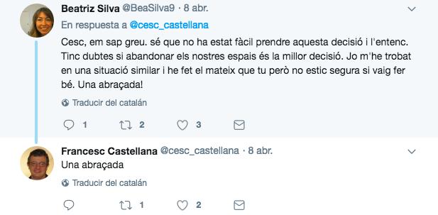 El tuit de la diputada del PSC Beatriz Silva