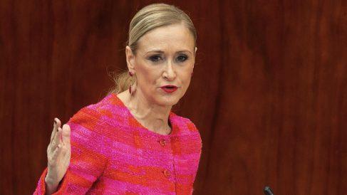 Cristina Cifuentes, en la Asamblea de Madrid. (Foto. PP)