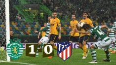 El Atlético lo pasó muy mal en su regreso a Lisboa.