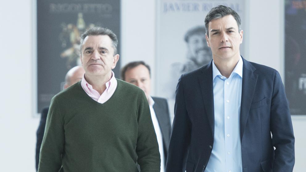 Pedro Sánchez y José Manuel Franco. (Foto: PSOE)