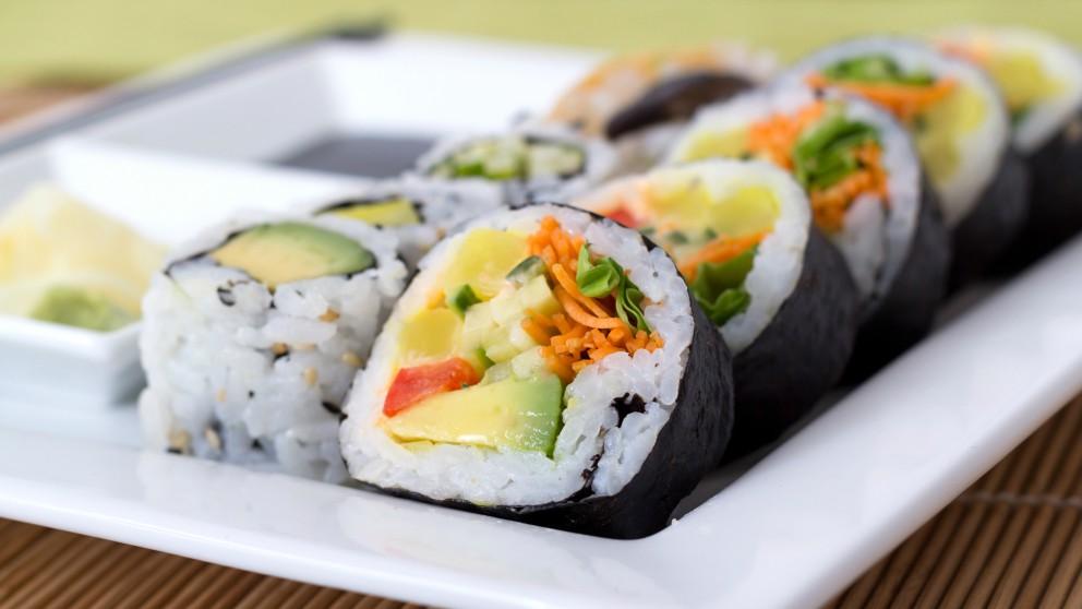 Receta de Maki sushi crudivegano paso a paso