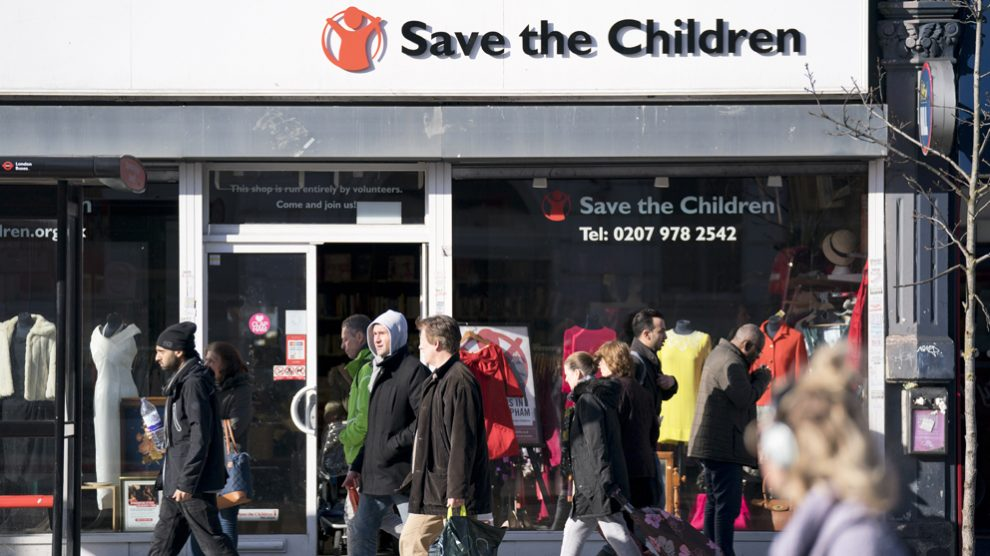 Establecimiento de Save the Children en Reino Unido. (Foto: AFP)