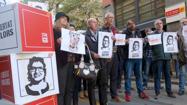 Manifestación de CCOO y UGT apoyando a los golpistas (Foto:Twitter)