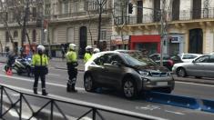Accidente en la calle Sagasta. (Foto. TW)