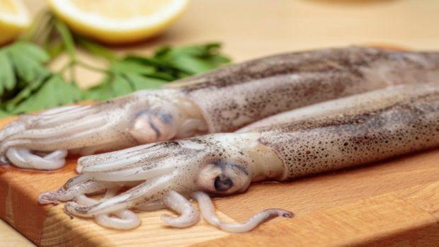 Calamares rellenos de quinoa