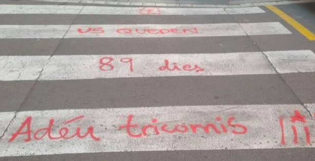 Pintada contra la Guardia Civil