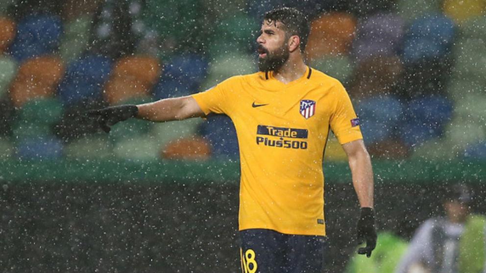 Diego Costa, durante el choque frente al Sporting de Europa League. (atleticodemadrid.com)